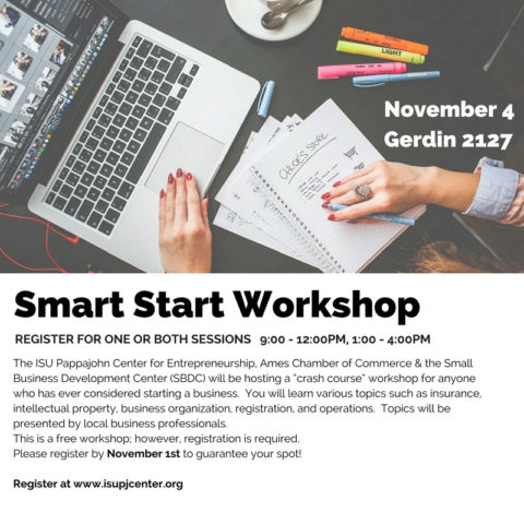 Smart Start Workshop @ Gerdin Business Building, Room 2127